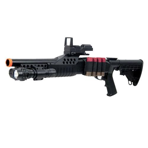UKARMS M180C2 Spring Shotgun RIS w/ 4 Bullet Shells,