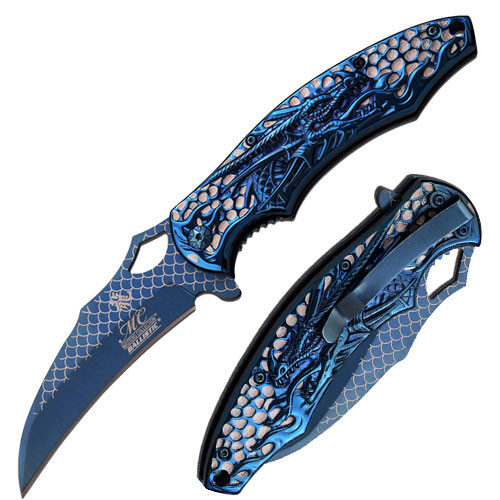 Blue Dragon Collection Spring Assisted Knife
