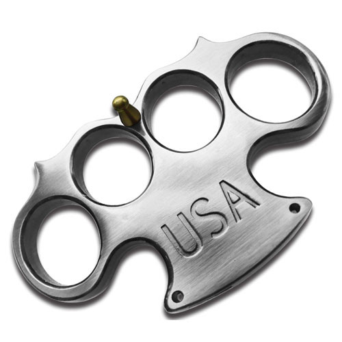 USA Heavy Duty silver Paperweight Buckle Knuckle