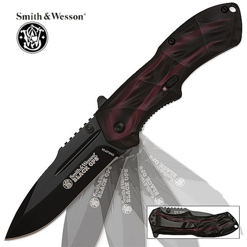 Spring Assist - S&W Black Operations - Spear Point Red Plain