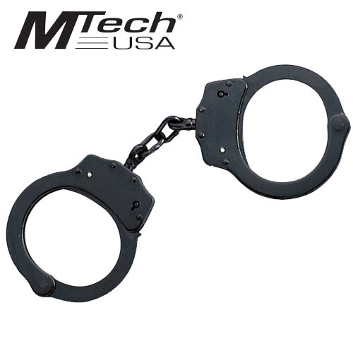 MTech USA Black Double Lock Handcuffs Self Defense
