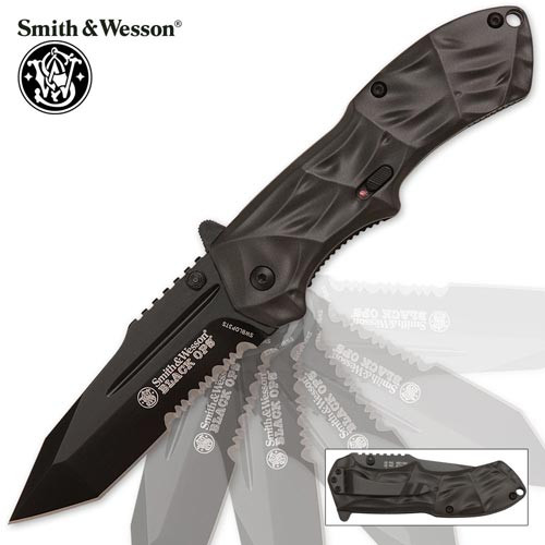 Spring Assist - S&W Black Operations - Tanto Point w/ Combo Edge