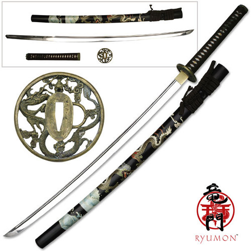 Ryumon Raijin Hand Forged High Carbon Steel Katana