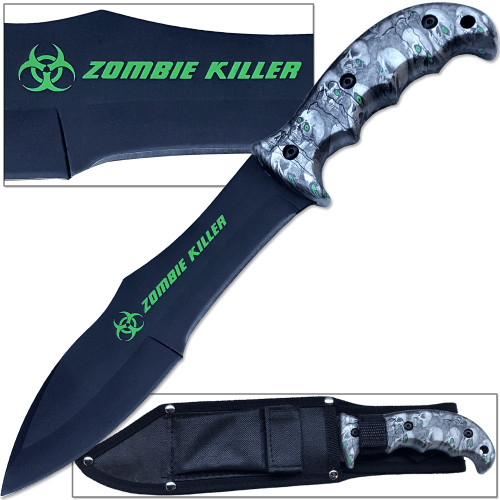 Zombie Outbreak Response Knife Hybrid Extreme Full Tang 12.5in Grey Survival EDC