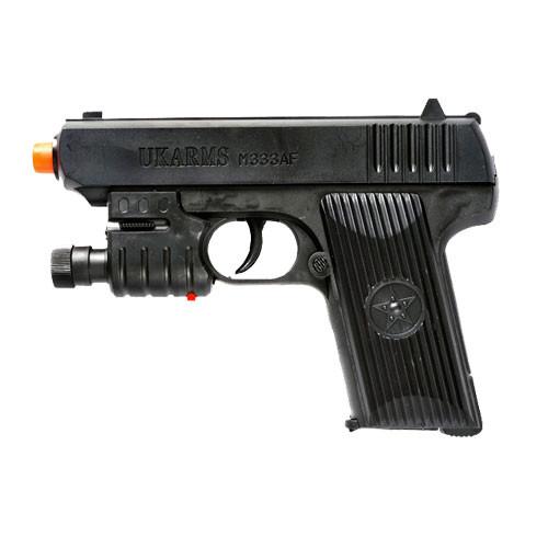 Spring Pistol W/Laser & Flashlight