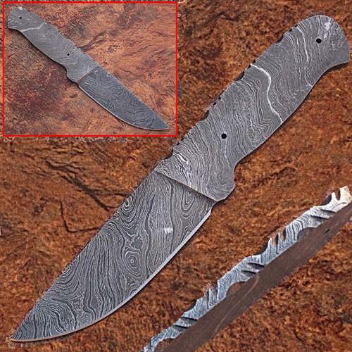 CUSTOM MADE DAMASCUS BLANK BLADE FULL TANG Knife