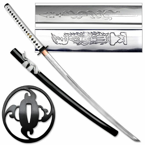 Shadow Warrior Handmade Katana Sword - White Edition