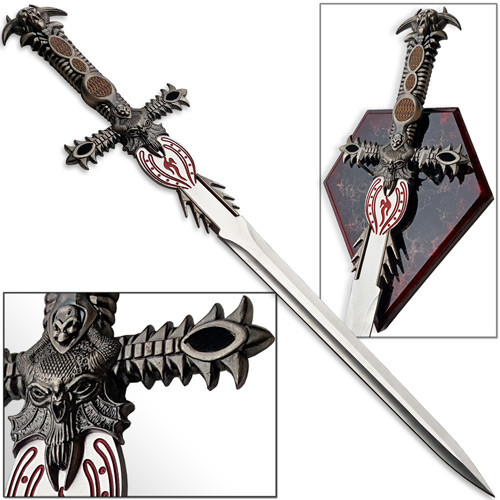 Underworld Demon Balrog Dagger Mini Claymore Sword w Plaque