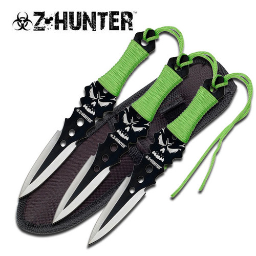Z Hunter Throwing Knives w/ Sheath - 3pc Set