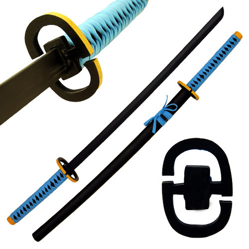 Beautiful ALL WOOD Katana Sword Black Blade