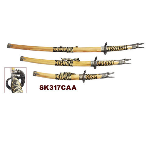 3 Pcs Open Mouth Dragon Sword Set