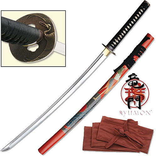 Ryumon - Forged AISI 1060 Phoenix Handmade Katana Sword