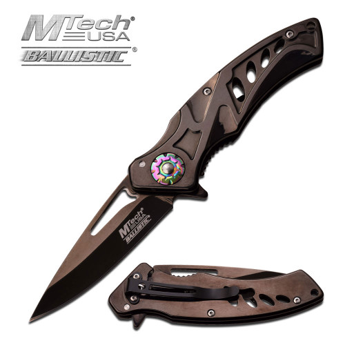 """MTech USA MT-A917BK SPRING ASSISTED KNIFE 4.5"""" CLOSED"""