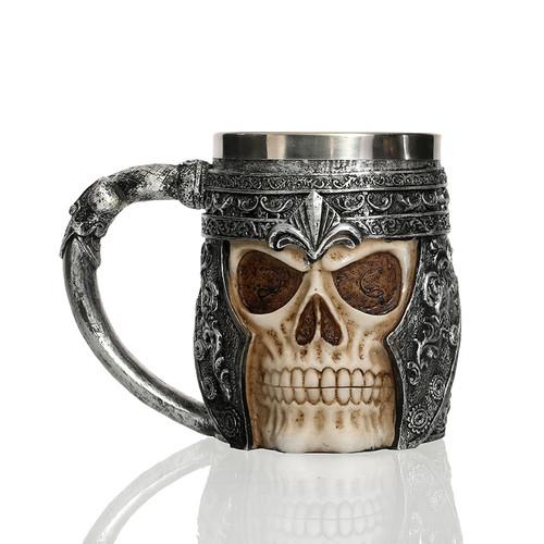 Ancient Nord Drinking Tankard Mug - Skull Helmet Cup Skyrim Elder Scrolls