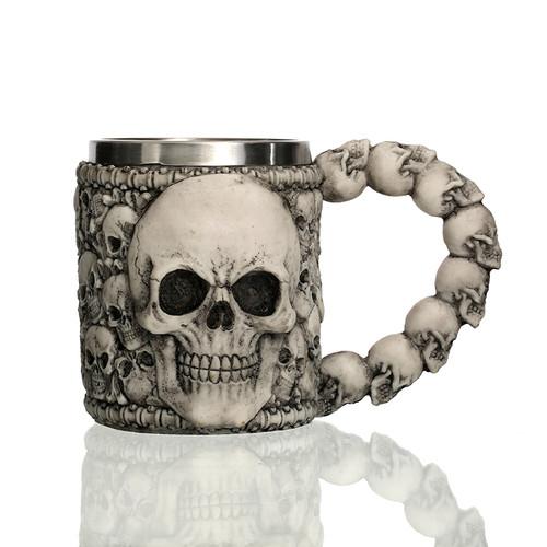 Underworld Drinking Tankard Mug - Death Skull Coffee Cup Skeletal