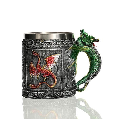 Dragonborn Drinking Tankard Mug - Dovahkiin Coffee Cup Medieval