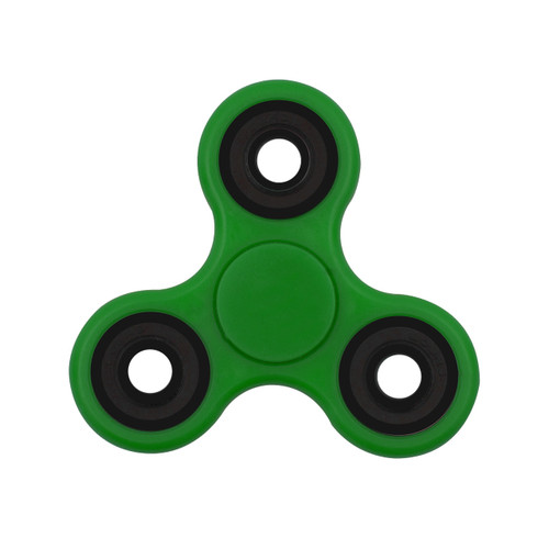 Tri-Spinner Fidget Toy Ceramic EDC Hand Finger Spinner Desk Focus GREEN