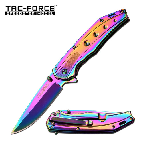 SPRING-ASSIST FOLDING POCKET KNIFE Tac Force Tactical TiN-Coated