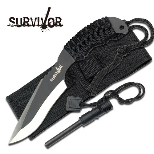 Survivor USA Design Firesteel & Knife Combo