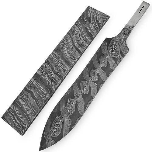 White Deer Damascus Steel LEOPARD PRINT Pattern Billet