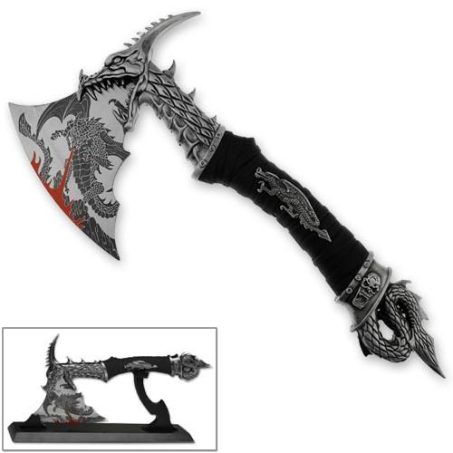 Dragonborn Dovahkiin Ornate Sharp Dragon Axe