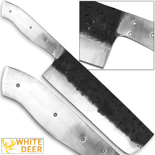 WHITE DEER 1095 Forged Steel Blank Usuba Bocho Knife