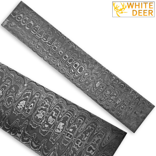 White Deer LADDER PATTERN Billet Damascus Steel
