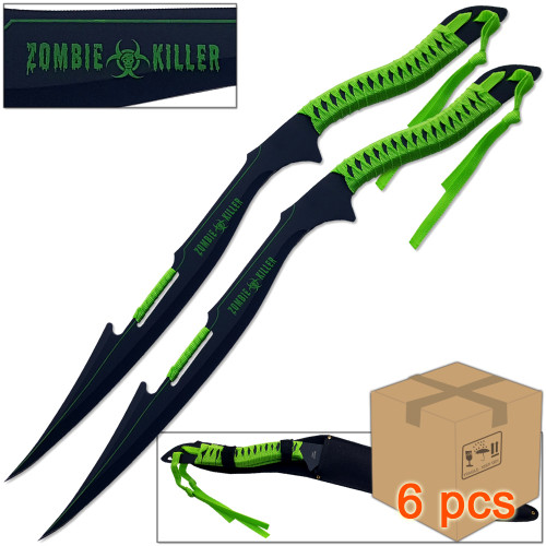 Case of 6pcs Zombie Armageddon Cutter War Blade Set