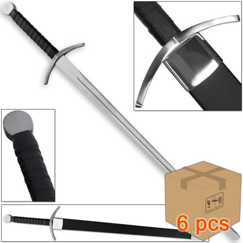 Case of 6pcs Hrathgar Viking Medieval Sparring Longsword