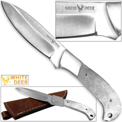 WHITE DEER Full Tang BLANK J2 Steel Tactical Knife