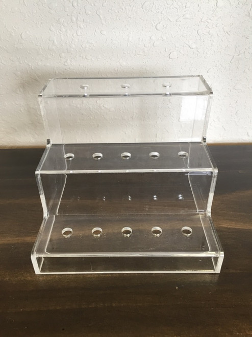 13 Hole Acrylic Display Stand For Tanks