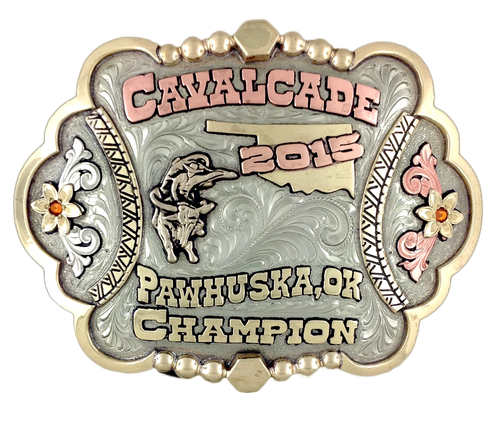 Cavalcade buckle for the 2015 Bull Riding champion