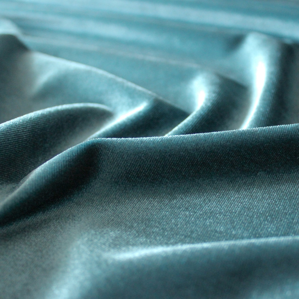 Stretch Velvet II - Teal | Blackbird Fabrics
