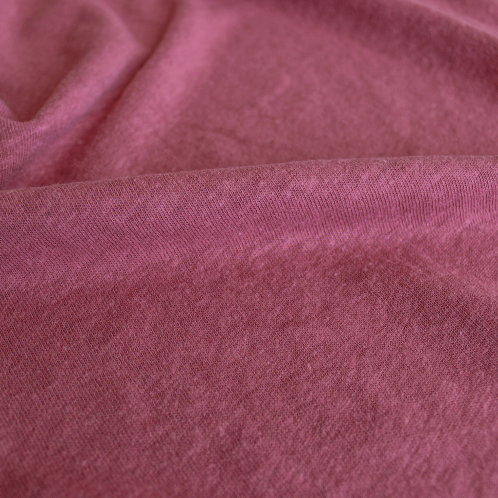 Hemp & Organic Cotton Jersey - Rouge | Blackbird Fabrics