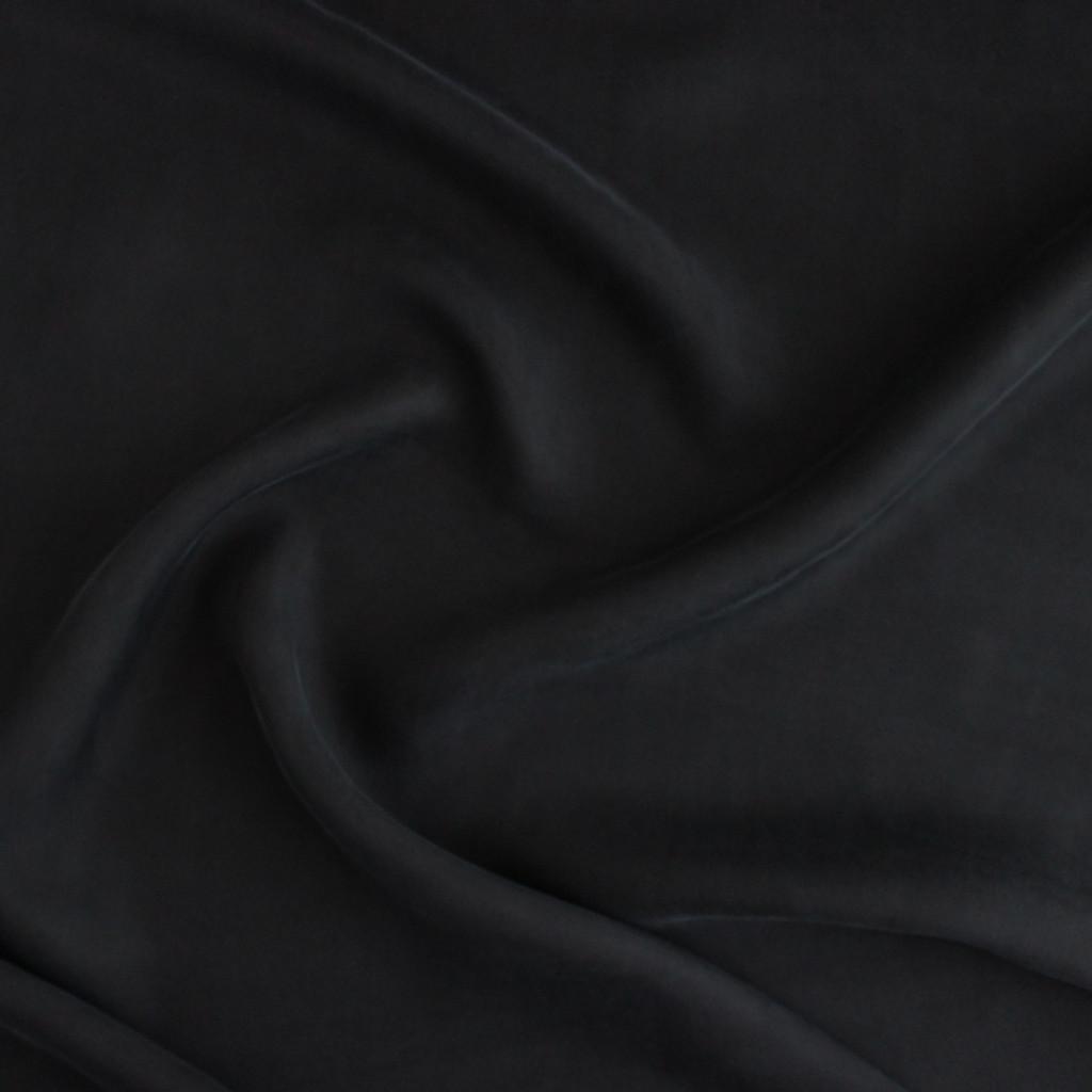 Cupro & Viscose Twill - Black | Blackbird Fabrics