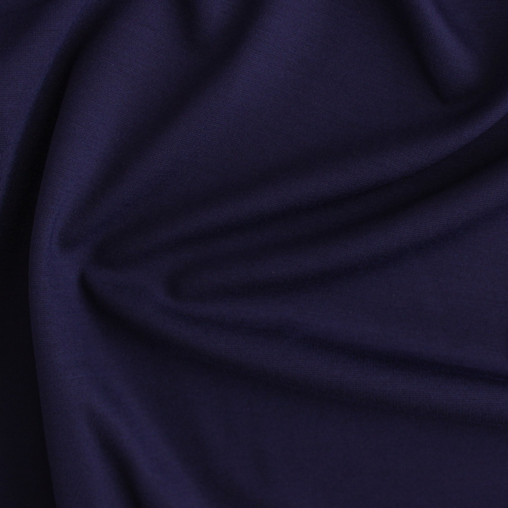 Ponte de Roma Knit - Blueberry | Blackbird Fabrics