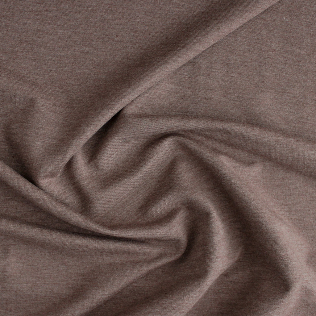 Bamboo & Cotton French Terry - Heather Mocha | Blackbird Fabrics