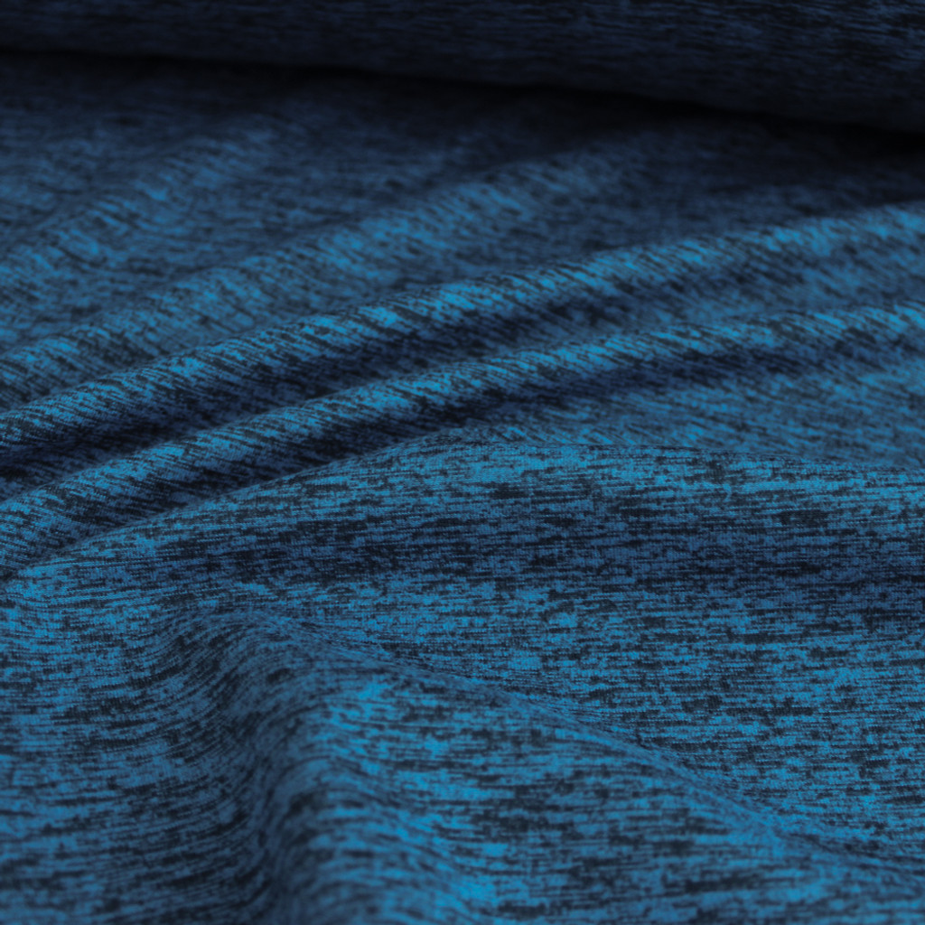 Space Dyed Athletic Knit - Ocean | Blackbird Fabrics