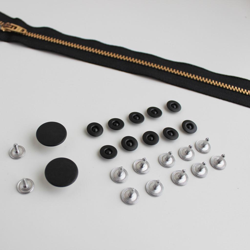 Jeans Hardware Kit - Matte Black | Blackbird Fabrics