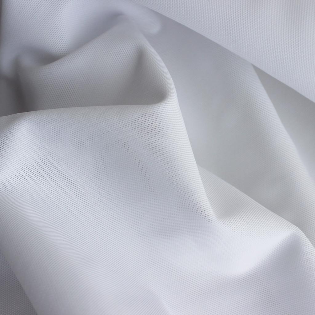 Firm Power Mesh - White | Blackbird Fabrics