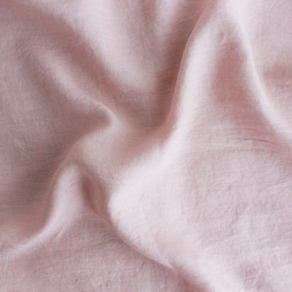 Washed Italian Linen - Pale Pink - 1/2 meter