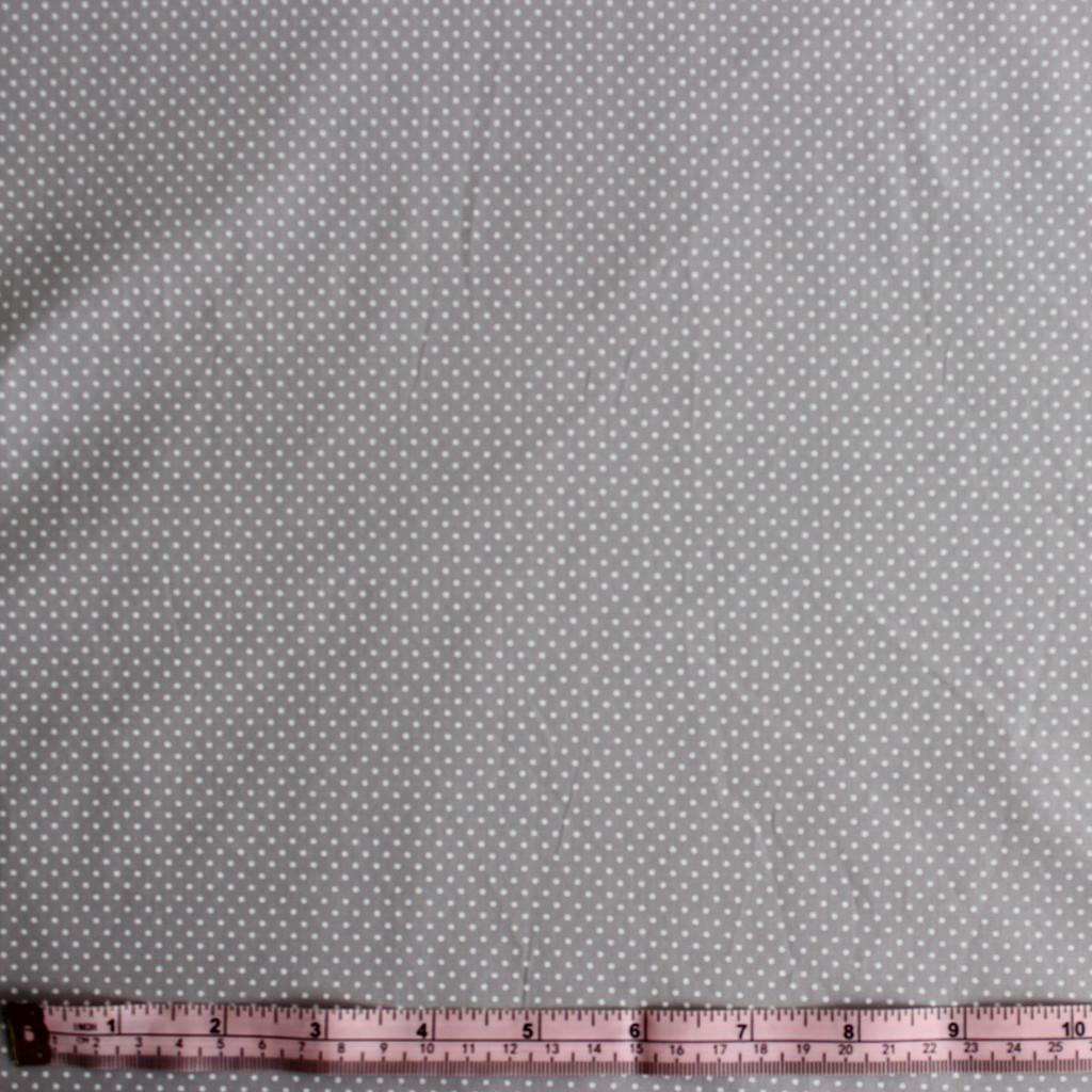 Polka Dot Stretch Cotton Shirting - Mouse Grey/White - 1/2 meter