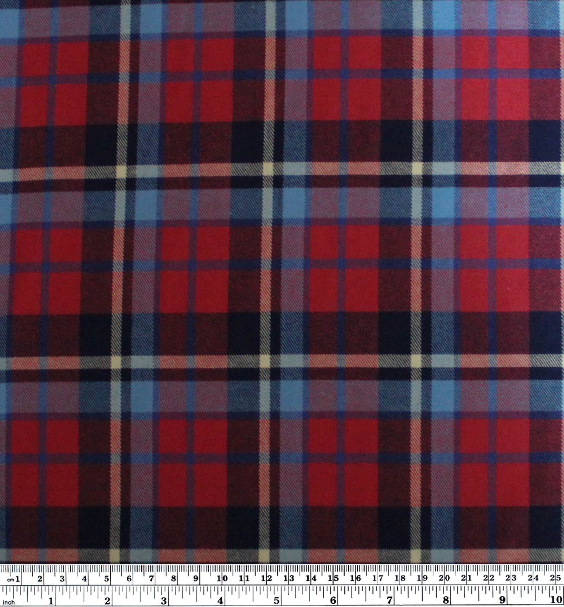 Plaid japanese lightweight brushed cotton flannel red for Navy blue and red flannel shirt