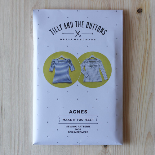 Agnes Jersey Top by Tilly and the Buttons | Blackbird Fabrics