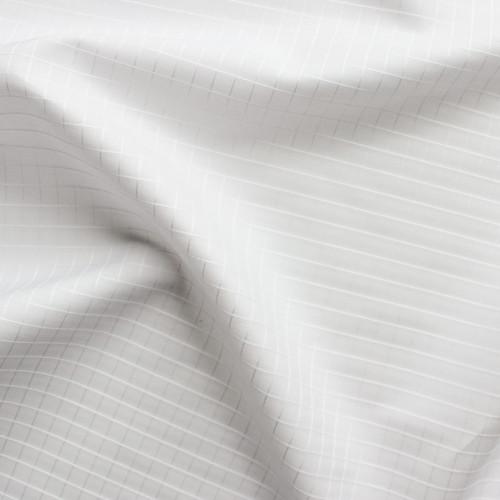 Tone on Tone Windowpane Check Japanese Cotton Shirting - White   Blackbird Fabrics