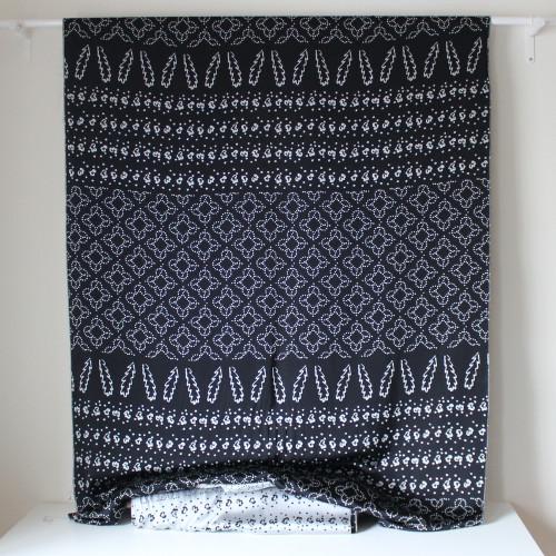 Thakoon Abstract Viscose Blend Satin Jacquard - Black/Silver | Blackbird Fabrics