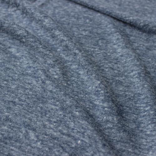 Linen & Poly Knit - Heathered Blue | Blackbird Fabrics