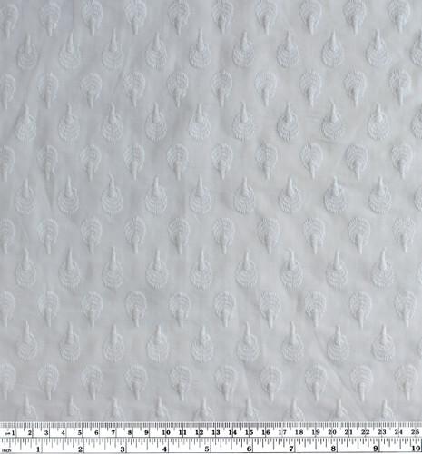 Embroidered Cotton Voile - White   Blackbird Fabrics