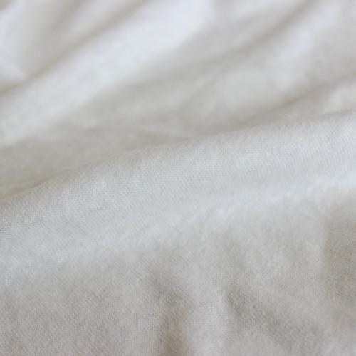 Hemp & Organic Cotton Jersey - Ecru   Blackbird Fabrics
