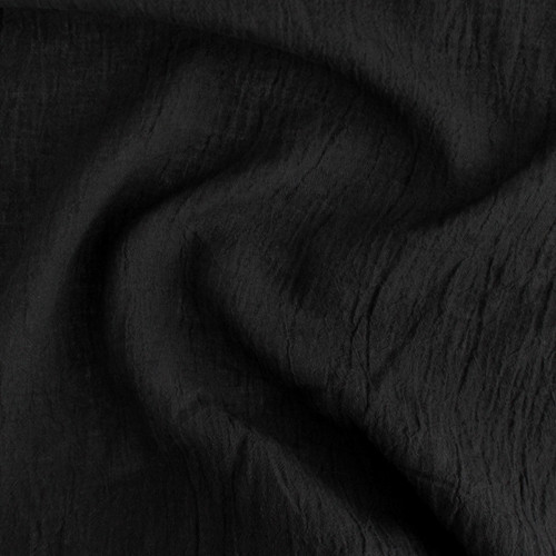 Crinkle Linen - Black - 1/2 meter